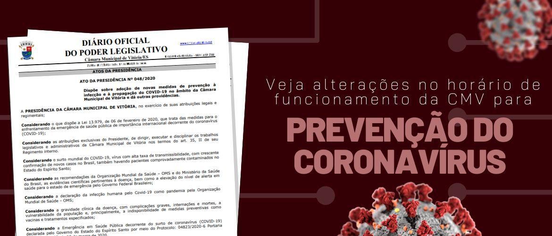 CMV adota medidas para evitar propagação do coronavírus