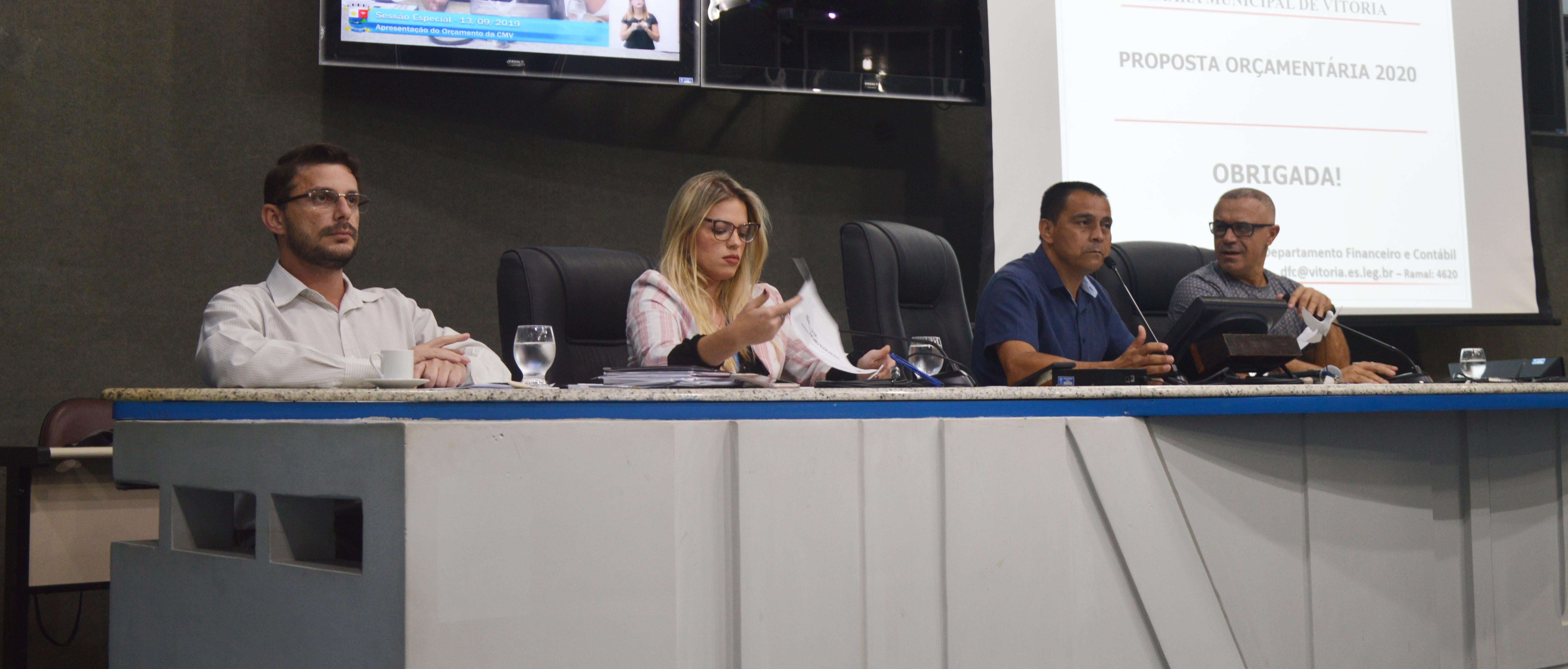 Câmara de Vitória apresenta com transparência Previsão Orçamentaria para 2020 nesta sexta-feira (13/09)