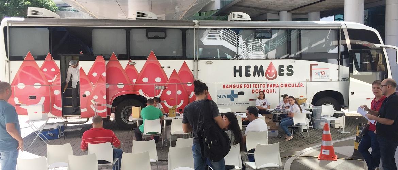 Câmara recebe doações de sangue voluntárias para o Hemoes nesta quarta (19/06)