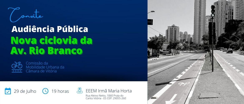 Audiência Pública sobre a nova Ciclovia da Av Rio Branco acontece no dia 29
