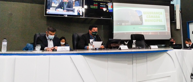 Comissão debate segurança interna na Câmara de Vitória